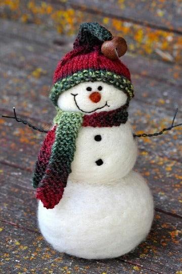 gorros para muñecos de nieve a crochet