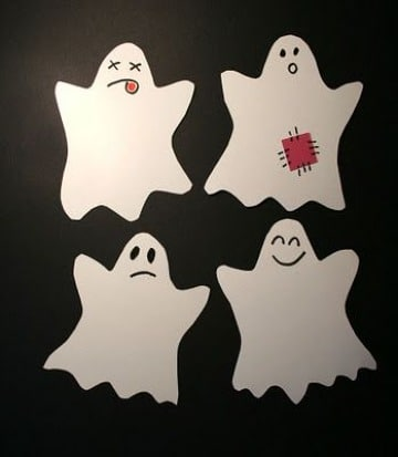 ideas de fantasmas de papel para halloween