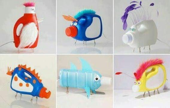 ideas para reciclar botellas de plastico para niños