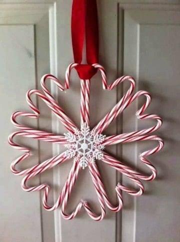 imagenes de bastones navideños para decoracion