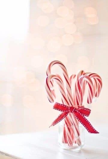 imagenes de bastones navideños para decorar