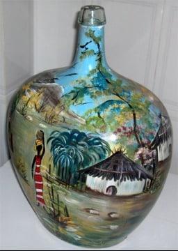 imagenes de jarrones de vidrio decorados