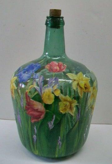 jarrones de vidrio decorados sencillos