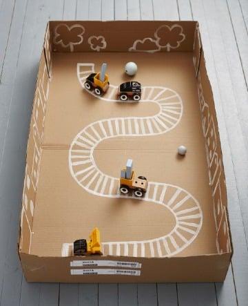 juegos de carton para niños faciles de hacer