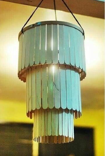 lamparas con paletas de helado faciles