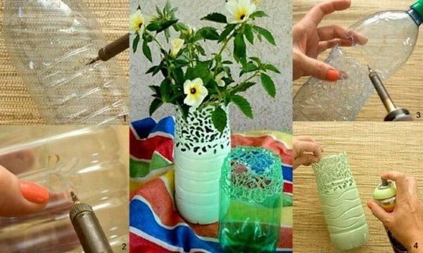 manualidades con botellas de agua paso a paso