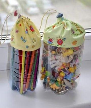 manualidades con tarros plasticos para niños