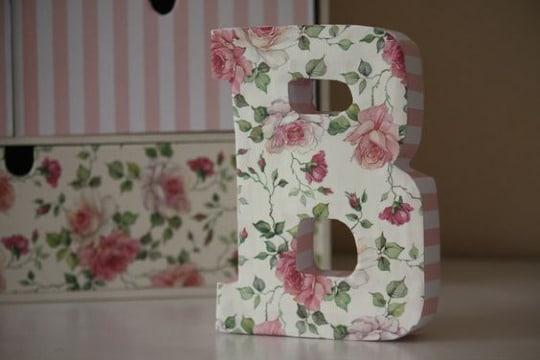 manualidades en carton y papel letras