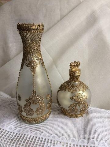 modelos de jarrones de vidrio decorados