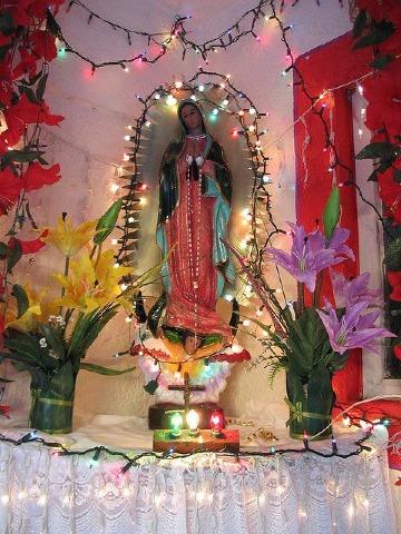 altares para virgen de guadalupe sencillos