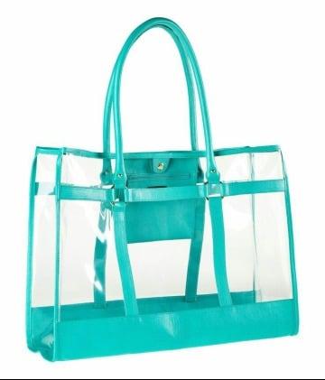 bolsas de playa de plastico a la moda