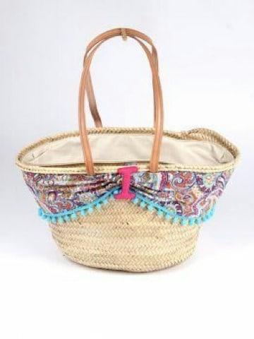 cestas de mimbre playa sencillas