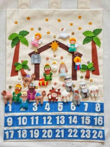 como hacer un calendario creativo navideño