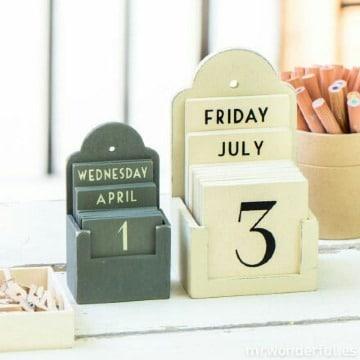 como hacer un calendario creativo perpetuo