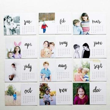 como hacer un calendario personalizado facil