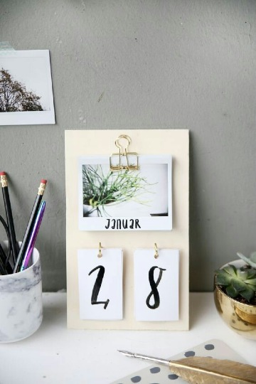 como hacer un calendario personalizado y original