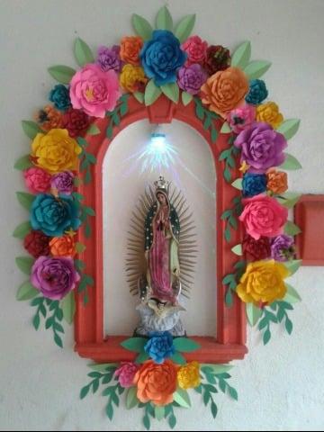decoraciones para la virgen de guadalupe sencillas