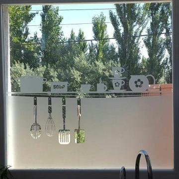 diseños de vinilos esmerilados para ventanas