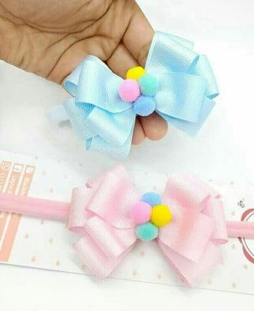 ideas de como hacer moños con cinta bebe
