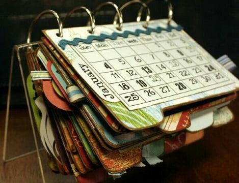 ideas de como hacer un calendario personalizado