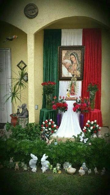 imagenes de decoraciones para la virgen de guadalupe