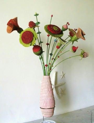 manualidades como hacer un florero de carton