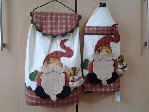 manualidades de cocina en tela navideñas