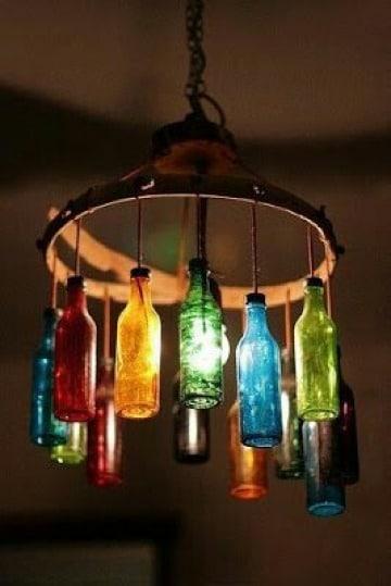 manualidades para el hogar recicladas con botellas de vidrio