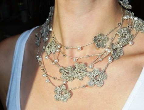 modelos de collares tejidos a gancho