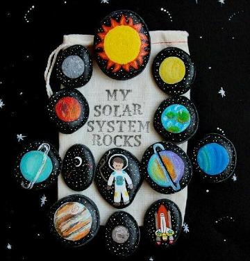 como hacer un sistema solar reciclado con piedras