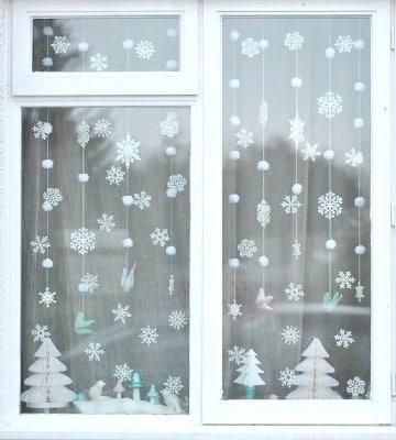 economicas ideas para decorar ventanas en navidad