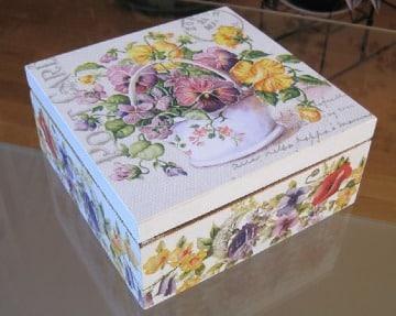 ideas cajas decoradas con servilletas