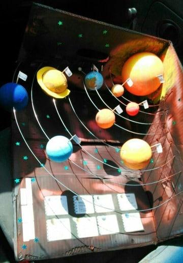 ideas de maquetas del sistema solar escolar