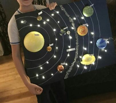 ideas de maquetas del sistema solar para niños