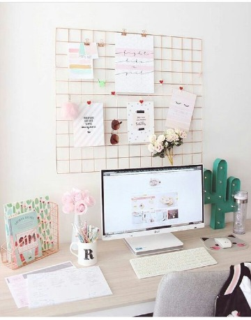 ideas para decorar escritorio de chicas