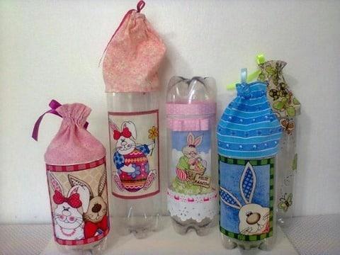 trabajos con botellas desechables faciles