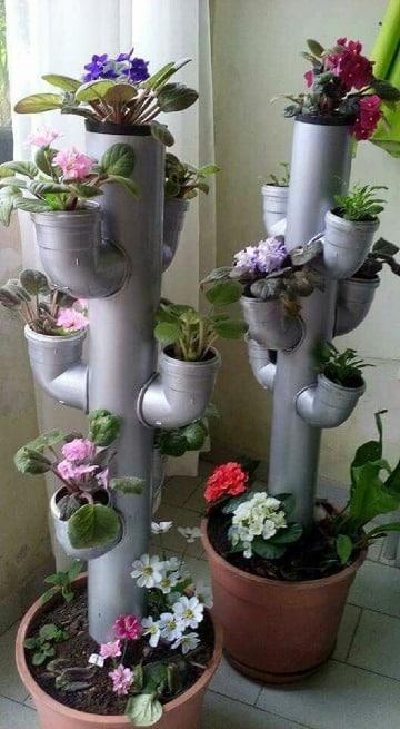 como hacer floreros artesanales creativos