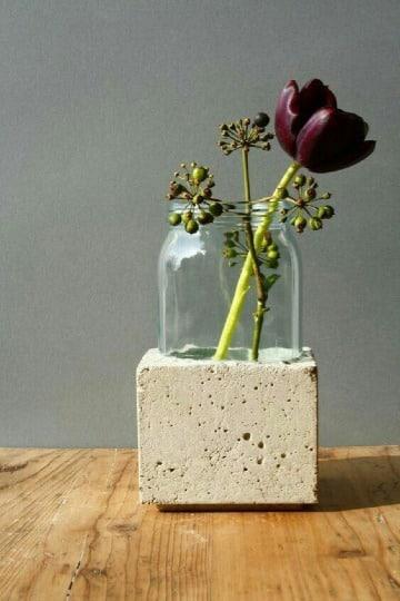 como hacer floreros artesanales faciles