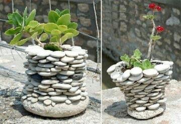 como hacer floreros artesanales paso a paso