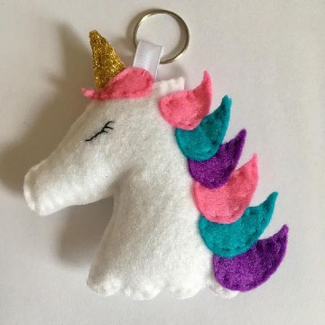 como hacer un unicornio de fieltro facil