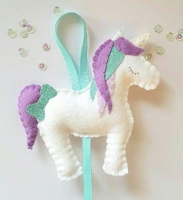 como hacer un unicornio de fieltro paso a paso