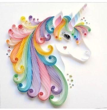 como hacer un unicornio de papel arcoiris