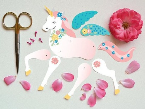 como hacer un unicornio de papel paso a paso