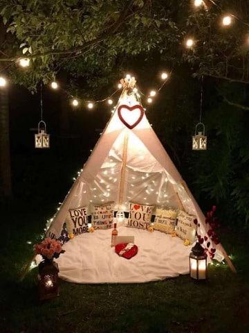 ideas para decorar en san valentin al aire libre