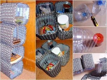 imaganes de muebles con botellas de plastico
