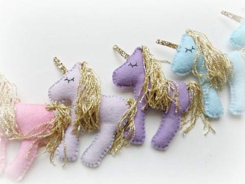 imagenes de como hacer un unicornio de fieltro