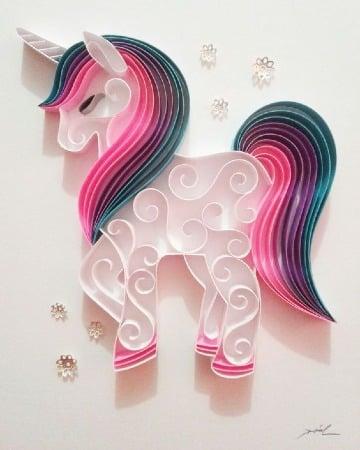 imagenes de como hacer un unicornio de papel