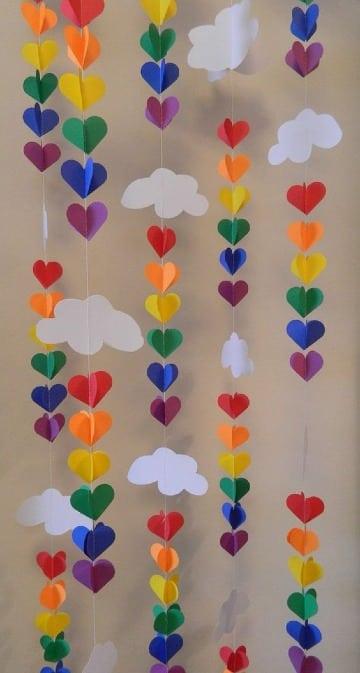 manualidades con papel arcoiris faciles