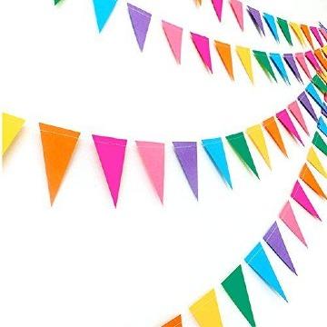 manualidades con papel arcoiris para fiestas