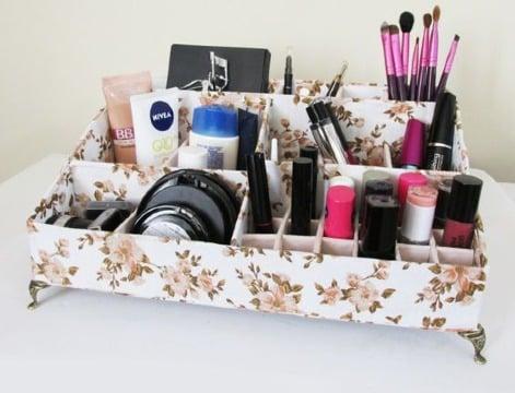 mini organizadores de carton para maquillaje